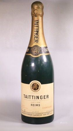 "Lg Vintage Taittinger Champagne Display ""Bottle"""