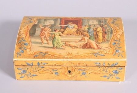 European 19 C Judgment of Solomon Wood Box