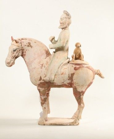 Sotheby's TLTested Tang Dynasty Horse Rider & Dog