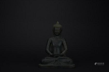 Qing dynasty bronze statue of shakyamuni