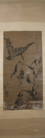 Ming dynasty Zhu da's flower and bird painting