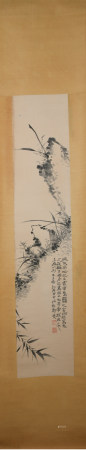 Qing dynasty Zheng banqiao's orchid painting