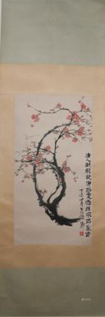 Modern Wu changshuo's flower painting