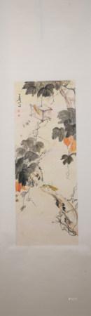 Modern Wang xuetao's flower and bird painting