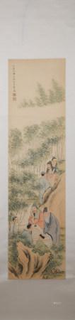 Qing dynasty Yu ji's figure painting