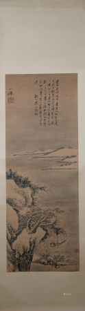 Ming dynasty Wu wei's landscape painting