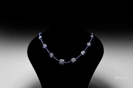 Western Asiatic Bactrian Lapis Lazuli Necklace String