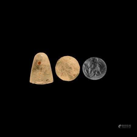 Western Asiatic Mesopotamian Warrior Stamp Seal