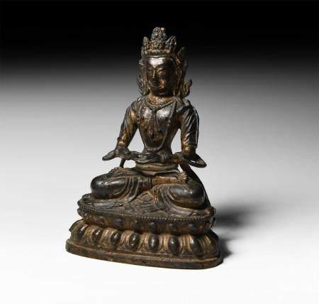 Chinese Ming Gilt Meditating Buddha Figure