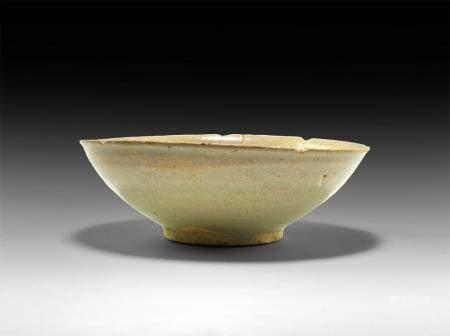 Large Chinese Tang Footed Bowl