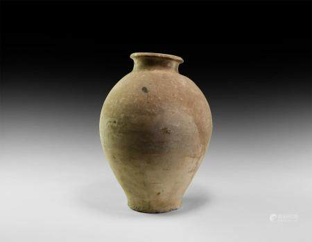 Chinese Song White Ware Storage Jar