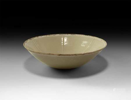 Chinese Tang Glazed Celadon Ware Bowl