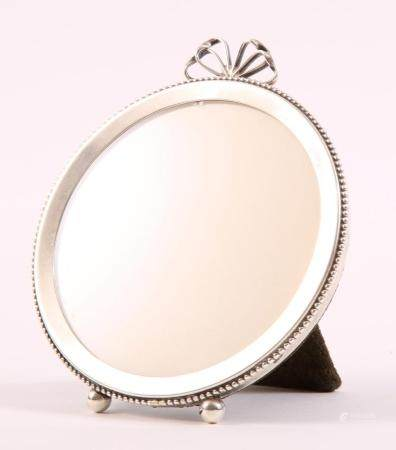 AUCELLO STERLING SILVER ROUND PICTURE FRAME
