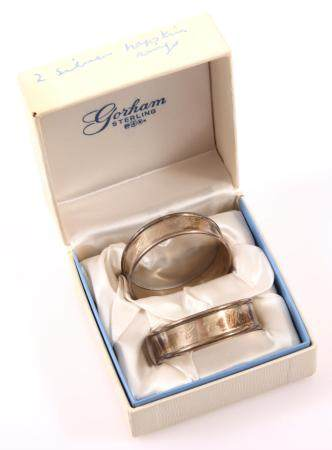 GORHAM STERLING SILVER NAPKIN RINGS PATTERN 6290