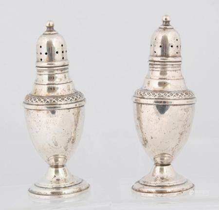 ROGERS WEIGHTED STERLING SILVER SALT AND PEPPER SHAKERS