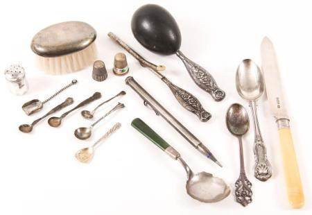 20TH C. STERLING SILVER FLATWARE & PERSONAL ITEMS