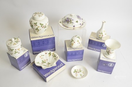 A group of Wedgwood 'Wild Strawberry' items, together with a Hammersley covered muffin dish,