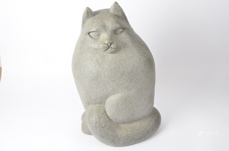 A large resin model of a cat, height 53cm
