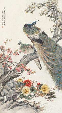 陆抑非(1908~1997) 1940年作 玉堂春色 镜心 纸本