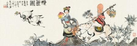 程十发(1921~2007) 1960年作 祝寿图 镜心 纸本