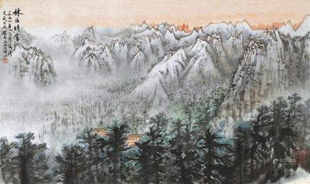 宋文治(1919~1999) 1976年作 林区晴雪 镜心 纸本