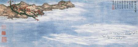 谢稚柳(1910~1997) 卷起千堆雪 镜心 纸本