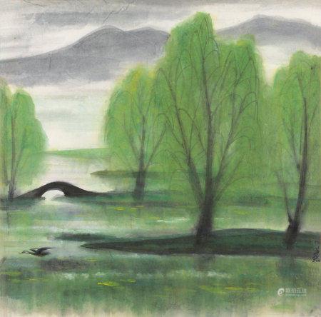 林风眠(1900~1991) 西湖 镜心 纸本