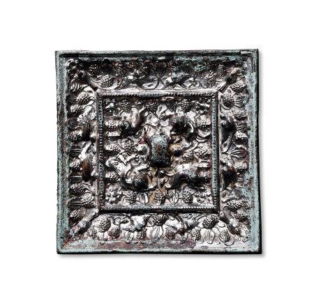方形海兽葡萄镜
