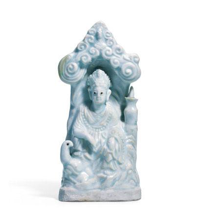 青白瓷观音佛龛