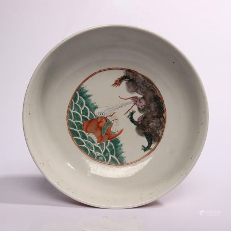 Sea water decorative basin with fish pattern