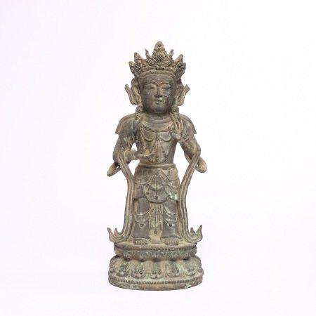 Bronze statue of Sakyamuni in Ming Dynasty