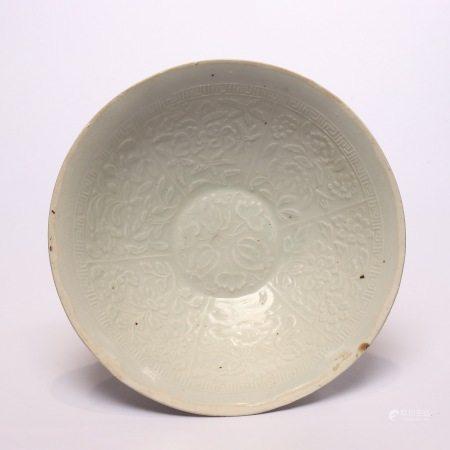 Celadon plate of Jingdezhen kiln in Song Dynasty