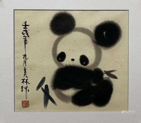 韩美林熊猫