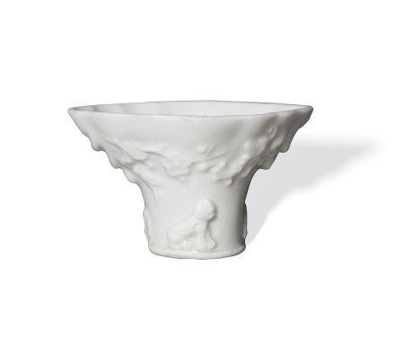A Small Dehua White-Glazed Cup清 德化白瓷杯