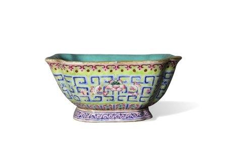 A Square Dish, Tongzhi Period, Qing Dynasty清同治 方斗盘 大清同治年制款