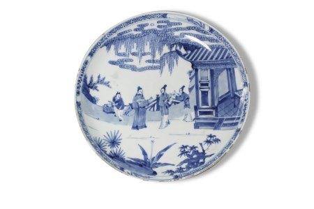 A Blue and White 'Figures' Plate, Yongzheng Period, Qing Dynasty清雍正 青花人物故事图盘 大清雍正年制款