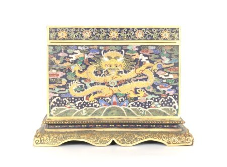 Chinese Cloisonne Ink Stone Box