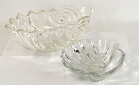 Two Baccarat Glass Bowls