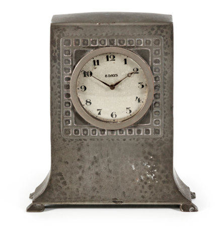 A LIBERTY PEWTER CLOCK