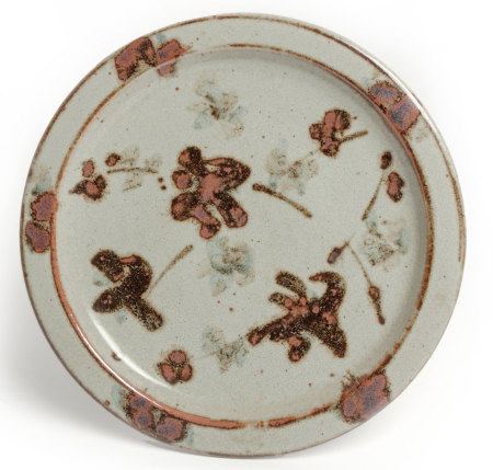 ESIAS BOSCH (SOUTH AFRICAN 1923 - 2010): A STONEWARE PLATTER