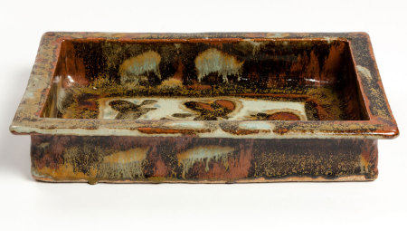 ESIAS BOSCH (SOUTH AFRICAN 1923 - 2010): A RECTANGULAR DISH