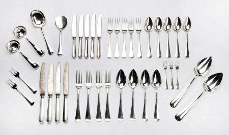 A Dutch silver collection of flatware