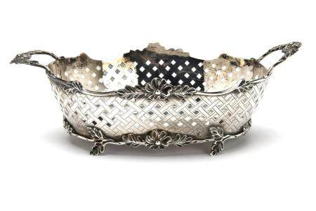 A Dutch silver basket