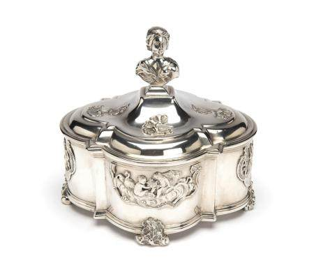 A Dutch silver tobacco jar, Rotterdam