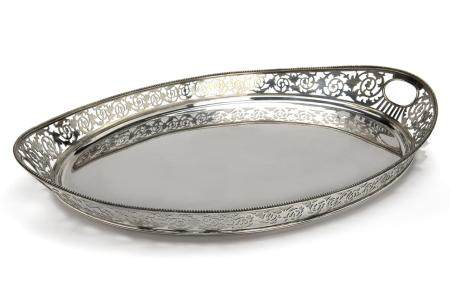 A large Dutch silver tray