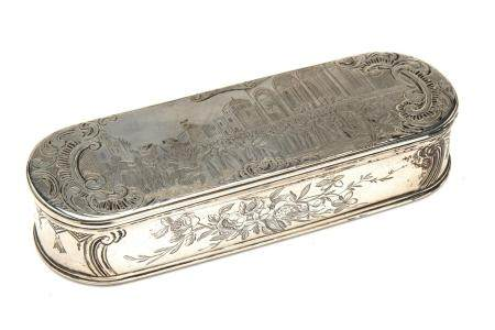 A fine Dutch silver tobacco box