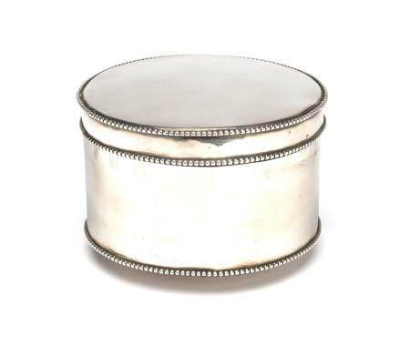 A Dutch silver biscuit box