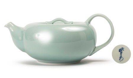 曉芳窯 早期豆青正把大茶壺