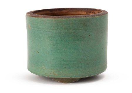 清 漳州窯綠釉琴爐
