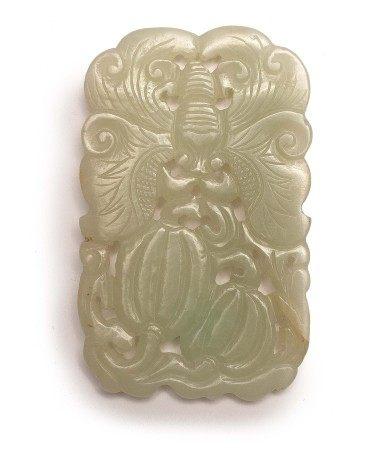 清 白玉瓜瓞綿綿珮